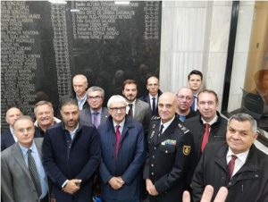 CESP Tribute to the police officers victims of terrorism, especially from France and Spain